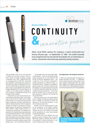 90 years of Ritter-Pen - continuity & innovative power
